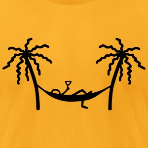 Hammock - Champagne T-Shirts - Men's T-Shirt by American Apparel