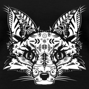 A fox head -White  Women's T-Shirts - Women's Premium T-Shirt