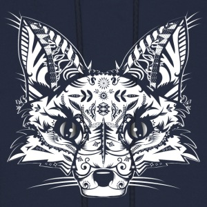 A fox head -White  Hoodies - Men's Hoodie