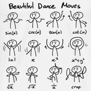 Beautiful Math Dance Moves T-Shirts - Men's Premium T-Shirt