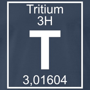 T (tritium) - Element 3H - pfll T-Shirts - Men's Premium T-Shirt