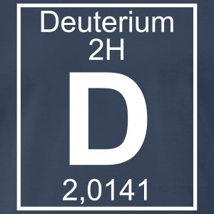 D (Deuterium) - Element 2H - pfll T-Shirts - Men's Premium T-Shirt