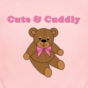 Teddy Bear for Girls - Short Sleeve Baby Bodysuit