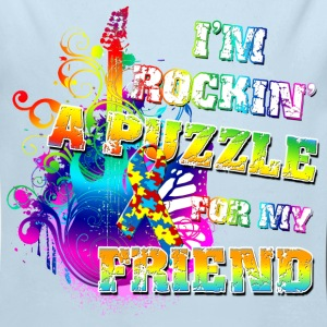 I'm Rockin' A Puzzle For My Friend Baby & Toddler Shirts - Long Sleeve Baby Bodysuit