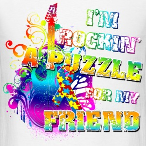 I'm Rockin' A Puzzle For My Friend T-Shirts - Men's T-Shirt