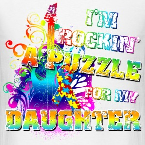 I'm Rockin' A Puzzle For My Daughter T-Shirts - Men's T-Shirt