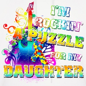 I'm Rockin' A Puzzle For My Daughter Hoodies - Men's Hoodie