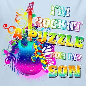 I'm Rockin' A Puzzle For My Son Baby & Toddler Shirts - Long Sleeve Baby Bodysuit