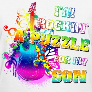 I'm Rockin' A Puzzle For My Son Women's T-Shirts - Women's T-Shirt