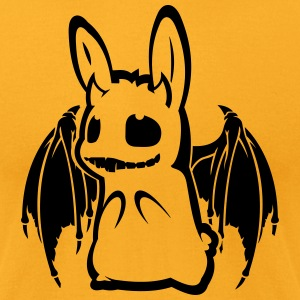evil animals: bunny-bat T-Shirts - Men's T-Shirt by American Apparel
