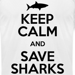 keep calm and save sharks T-Shirts - Men's T-Shirt by American Apparel