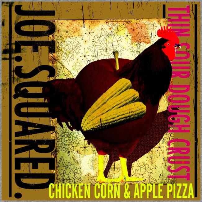 chicken, corn and apple pizza women's shirt