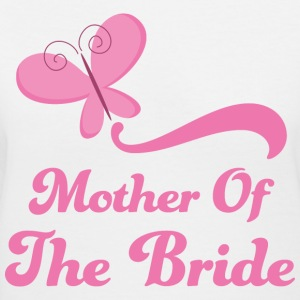 Mother of the Bride (Wedding Butterfly) Women's T-Shirts - Women's V-Neck T-Shirt