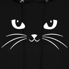 Cat Face With Big Eyes Hoodies