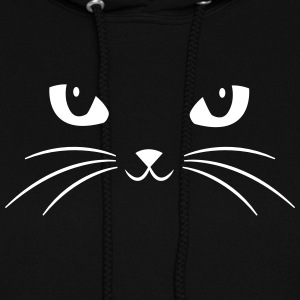 Cat Face With Big Eyes Hoodies - Women's Hoodie