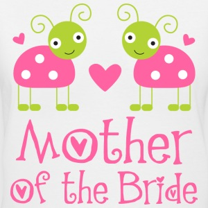 Mother of the Bride Wedding Ladybugs Women's T-Shirts - Women's V-Neck T-Shirt