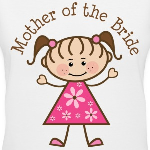 Mother of the Bride (Stick Figure) Women's T-Shirts - Women's V-Neck T-Shirt