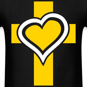 Heart Cross T-Shirts - Men's T-Shirt