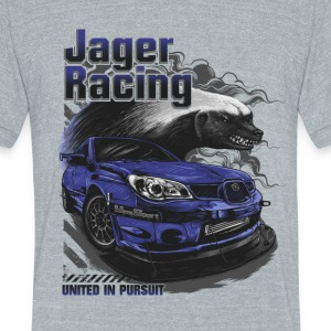 Jager Racing Men's - Fierce Badger - Unisex Tri-Blend T-Shirt by American Apparel