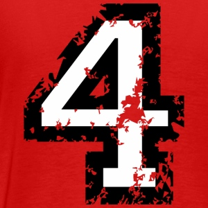 Number Four T-Shirt No.4 (Men Red) Back - Men's Premium T-Shirt