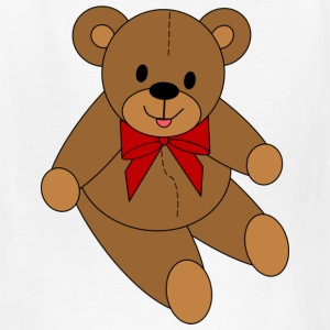 Teddy Bear - Red Bow - Kids' T-Shirt