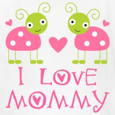 I Love Mommy Baby T-shirt (ladybugs)