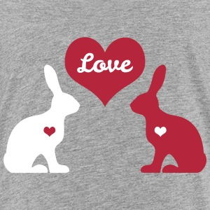 bunny rabbit hare cony leveret bunnies heart love Kids' Shirts - Kids' Premium T-Shirt