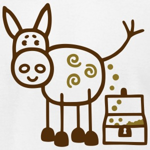 Donkey poops gold - V2 T-Shirts - Men's T-Shirt by American Apparel
