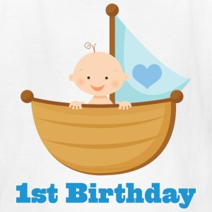 1st Birthday Boy Kids T-shirt (Sailboat) - Kids' T-Shirt
