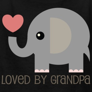 Grandpa Loves Me Kids T-shirt (Elephant) - Kids' T-Shirt