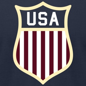 USA  Badge T-Shirts - Men's T-Shirt by American Apparel