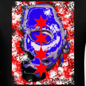 Michael Myers Chicago Flag T-Shirts - Men's T-Shirt