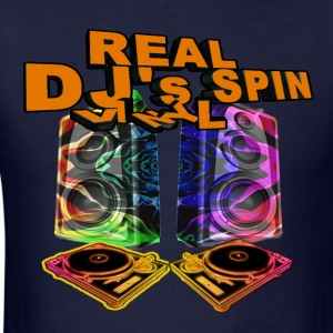 REAL DJ's SPIN VINYL - Men's T-Shirt