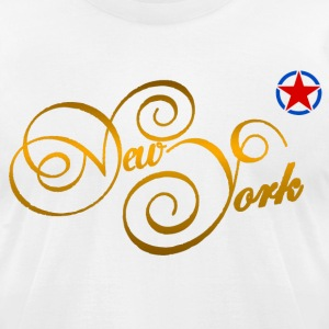 new york gold T-Shirts - Men's T-Shirt by American Apparel