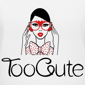 TooCute Couture Women's T-Shirts - Women's V-Neck T-Shirt