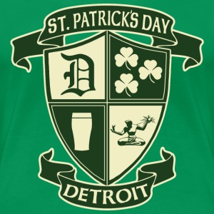 St. Patricks Day Detroit Irish Crest  Women's T-Shirts - Women's Premium T-Shirt
