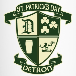 St. Patricks Day Detroit Irish Crest  Bottles & Mugs - Travel Mug