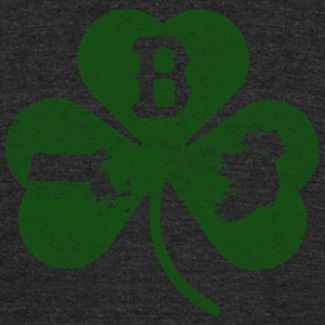 Boston Massachusetts Ireland Shamrock  T-Shirts - Unisex Tri-Blend T-Shirt by American Apparel
