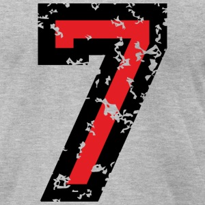 Number Seven T-Shirt No.7 (Men Grey) - Men's T-Shirt by American Apparel