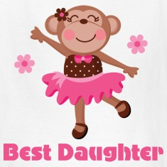 Best Daughter (girl monkey) Kids' Shirts