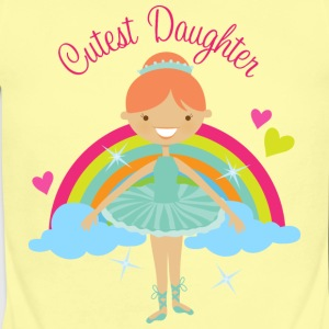 Cutest Daughter Ballerina Baby & Toddler Shirts - Short Sleeve Baby Bodysuit