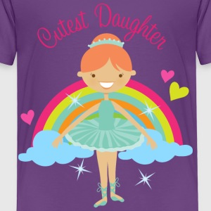 Cutest Daughter Ballerina Baby & Toddler Shirts - Toddler Premium T-Shirt