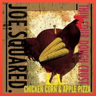 Design ~ chicken corn and apple pizza tote bag