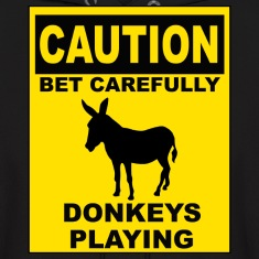 POKER: CAUTION Donkeys Playing Hoodies