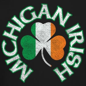 Michigan Irish Shamrock Flag Long Sleeve Shirts - Crewneck Sweatshirt