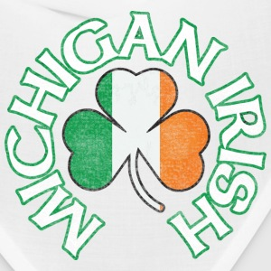Michigan Irish Shamrock Flag Caps - Bandana
