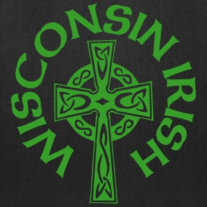 Wisconsin Irish Celtic Cross Apparel Clothing Tee Bags & backpacks - Tote Bag