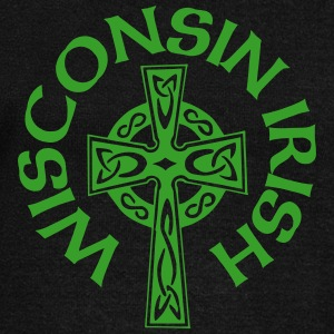 Wisconsin Irish Celtic Cross Apparel Clothing Tee Long Sleeve Shirts - Women's Wideneck Sweatshirt