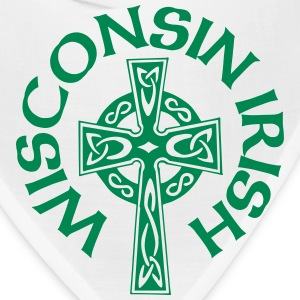 Wisconsin Irish Celtic Cross Apparel Clothing Tee Caps - Bandana