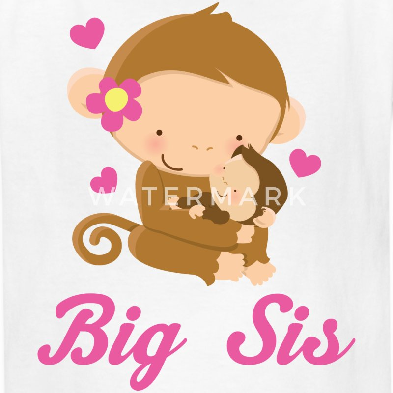 Big Sis Girl Monkey Kids' Shirts - Kids' T-Shirt